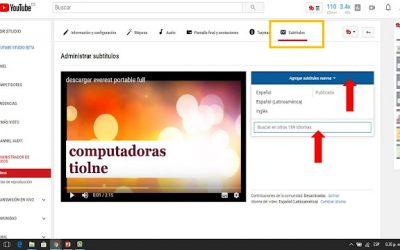 COMO AGREGAR SUBTITULOS EN MIS VIDEOS DE YOUTUBE