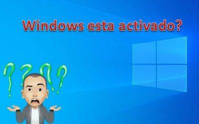 COMO SABER SI WINDOWS ESTÁ ACTIVADO