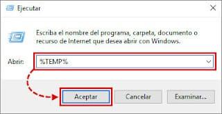como eliminar archivos %temp%