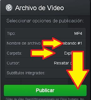 guardar video y cambiar nombre del archivo.