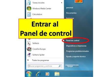 como entra al panel de control